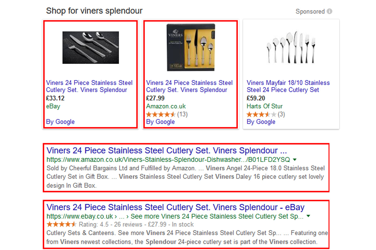Are you competing with your own marketplace ads on Google?