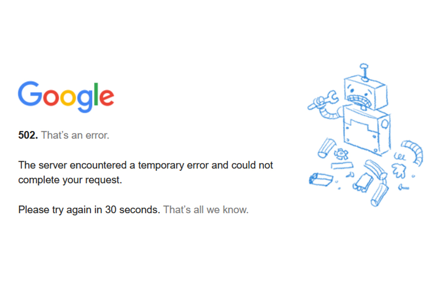 Google Gmail down, so is YouTube, Drive etc