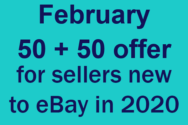 50 50 promotion for sellers new to eBay in 2020