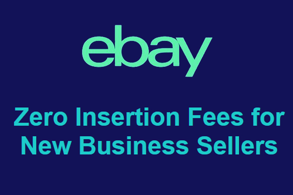 eBay Zero Insertion Fees for New in 2021 Business Sellers